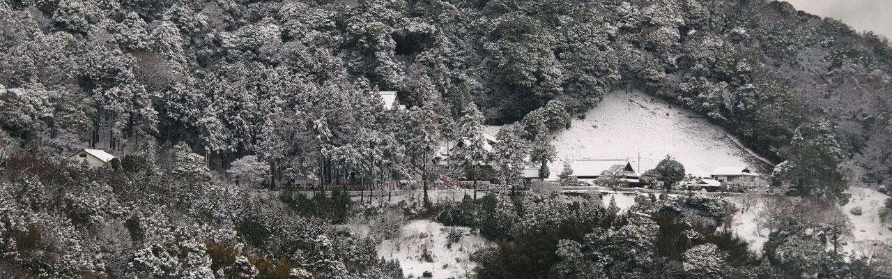 一畑山冬景色