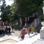 写真:幸謙和尚地蔵菩薩の石像完成