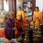 写真:中国・香山教寺の修行僧